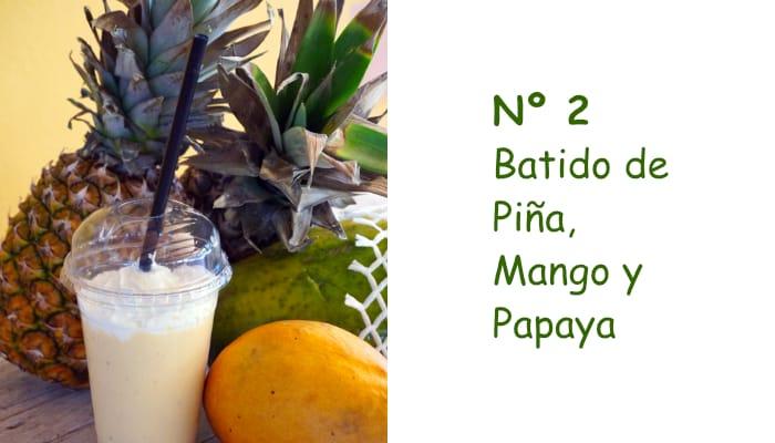 Nº 2 Batido de Piña, Mango y Papaya