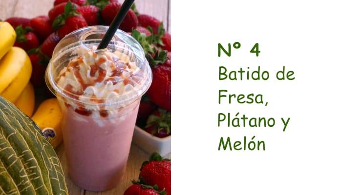 Nº 4 Batido de Fresa, Plátano y Melón
