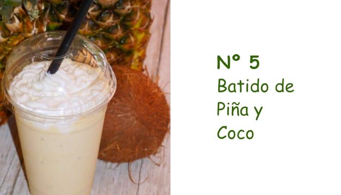 Nº 5 Batido de Piña y Coco