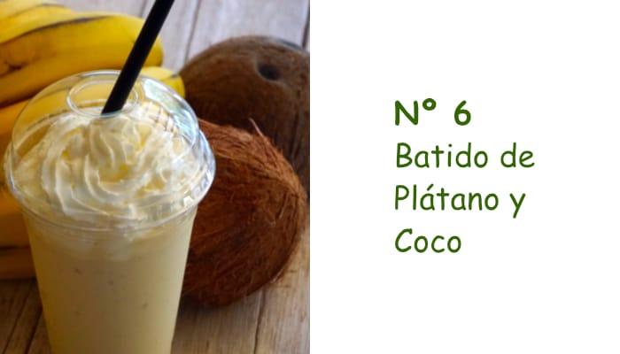 Nº 6 Batido de Plátano y Coco