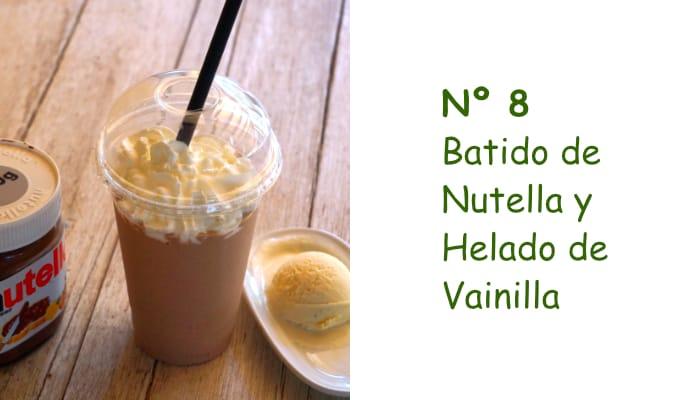 Nº 8 Batido de Nutella y Helado de Vainilla